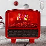 BKWJ Mini Calentador eléctrico con Efecto de Llamas 3D, Calentador de...