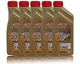 5 confezioni da 1 L di olio per motore Castrol EDGE Professional, 0W-20