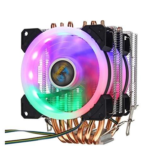SymArt cojín de enfriamiento CPU Cooler 6 Pipe De 4 Pines RGB 2 Ventiladores En El Teléfono 775/1150/1151/1155/1156/1155/1156/1366...
