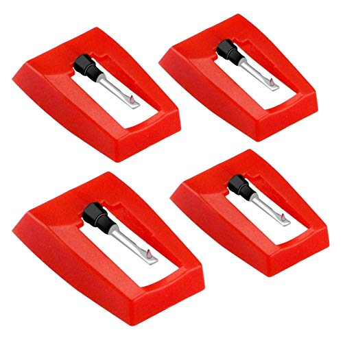 Record Player Needle, 4 Pack Universal Turntable Stylus Replacement Needles, Phonograph Needles for Crosley ION Jensen Victrola Sylvania LP Vinyl Record Player Wockoder