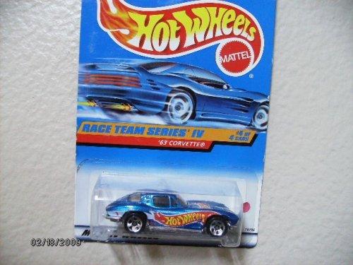 HOT Wheels 63 Corvette 1998 Race Team Series Iv #4 Collector #728