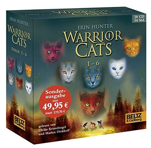 Warrior Cats 1-6: I, Folge 1-6, gelesen von Ulrike Krumbiegel und Marlen Diekhoff, Gesamtbox 28 CDs, 34 Std.5 Min.