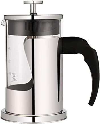 Stainless Steel French Press Bor Silicate French Press Coffee Pot With Scale Coffee Maker Tea Pot