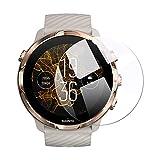 (2枚入り) Vikisda SUUNTO7 ガラスフィルム 強化ガラス スント7 保護フィルム 日本旭硝子素材 2.5D 最高硬度9H 腕時計フィルム シール 軽減 薄型 自動吸着 指紋防止 気泡ゼロ