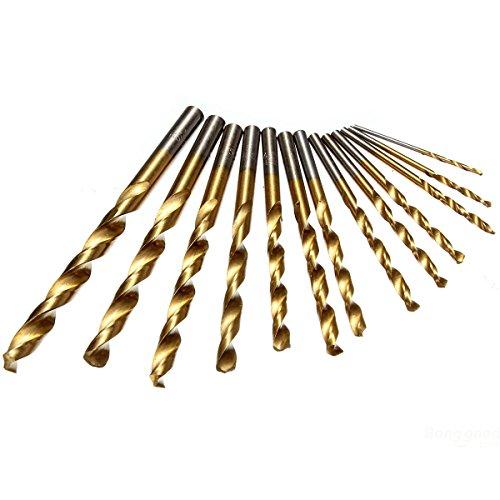 Éléments mark8shop Titane Twist Forets à tige droite foret hélicoïdal en acier rapide 1,5–6,5 mm