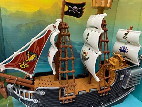 Veliero Pirati Bambini in plastica Nave Pirati Giocattolo Nave dei Pirati Giocattolo Veliero Acquario 21x12(h) x6 cm