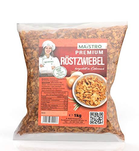 Fettarmer Premium Röstzwiebel - Zum Würzen/Kochen/Garnieren - sofort verwendbar. MAISTRO Premium Röstzwiebel 1000g