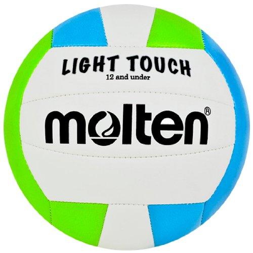 Molten MS240–3Leicht-Volleyball, rot/weiß/blau, MS240-GB, Grün/Blau/Weiß, 12 & Under/8.1 oz