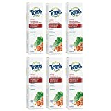 Tom's of Maine Fluoride-Free Antiplaque & Whitening Toothpaste Gel, with Propolis and Myrrh Natural Toothpaste, Fluoride Free Toothpaste, Spearmint, 5.5 Ounce, 6-Pack