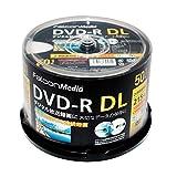FalconMedia 1回録画用 DVD-R DL CPRM 215分50枚 ホワイトプリンタブル 片面2層 2-8倍速 BE071