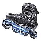 Patines en línea profesionales para adultos al aire libre para hombres y mujeres, patines en línea ajustables unisex con todas las ruedas iluminadoras