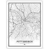LucklyingBao Kunstdrucke Leinwand Amerika Pittsburgh City