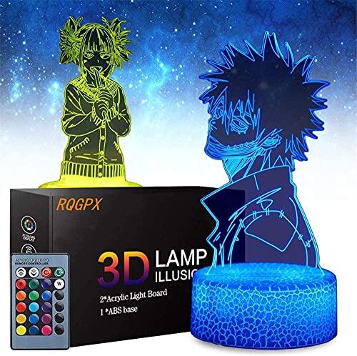 Lámpara de ilusión óptica 3D My Hero Academia regalos para adolescentes regalos perfectos para niños y decoración de habitación Darth Vader personajes