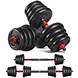 MOVTOTOP Adjustable Dumbbells Set Barbell Weight Set-66LBS Weights Dumbbells Set Home Exercise &...