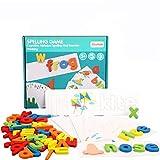 Weryffe Juego de puzzle del alfabeto de juguete para bebé, de madera, multicolor, de cartón, alfabeto inglés y ABC, juego de ortografía para niños pequeños