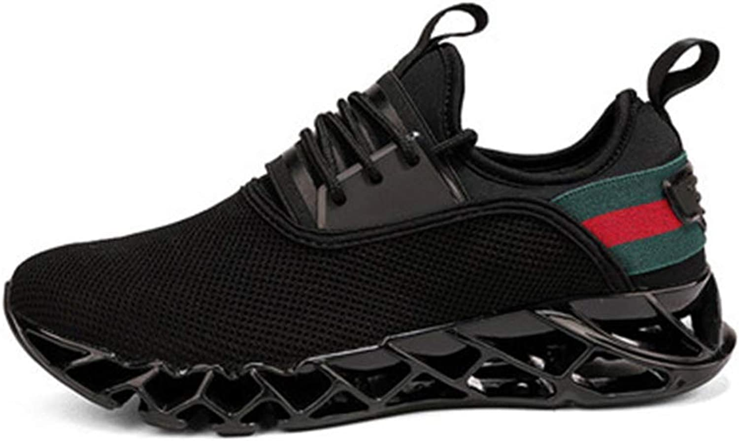 ZHRUI Running shoes for Mens Professional Athletic Sneakers Super Light Sport Walking Trendy Cushioning Athletic shoes Casual Walking shoes (color   Black, Size   8.5=42 EU)