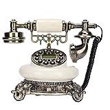 Adorno De Escritorio Antiguo Teléfono Vintage, Teléfono Fijo Retro Europeo Con Cable, Teléfono Retro Con Dial Giratorio Clásico, Teléfono De Casa, Para Decoración De Escritorio De Oficina En Casa