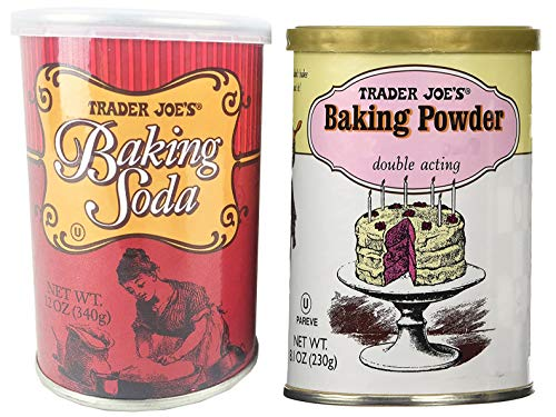 Trader Joe's Baking Powder Double Acting 8.1 oz. and Baking Soda 12 oz.