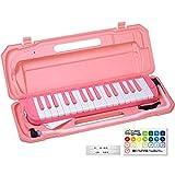KC キョーリツ 鍵盤ハーモニカ メロディピアノ 32鍵 サクラ P3001-32K/SAKURA (ドレミ表記シール・クロス・お名前シール付き)