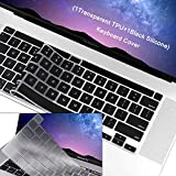 WENWELL 2pcs Keyboard Cover Skin Compatible with New MacBook Pro 13 inch A2289 A2251 & 2019 MacBook Pro 16' A2141,1 Silicone + 1 TPU Protective Pretector for 2020 Release Apple Laptop Accessories