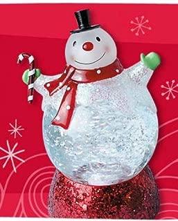 Hallmark 2011 Lighted Snowman Snow Globe - Light and Motion - #LPR2326