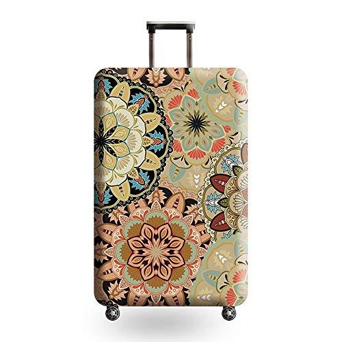 Funda para maleta elástica, resistente al agua, estampada, multicolor, diseño de flores, funda protectora para equipaje de 18 – 32 pulgadas, lavable, para viajes