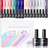Gellen Gel Nail Polish Kit 16 Colors With Top Base Coat - Popular - Best Reviews Guide