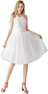 Special Bridal Tutu Falda para Mujer años 50 clásico Tutu Petticoat Adulto Plisado Danza Falda