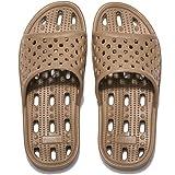 Zapatillas de Ducha para Mujeres Antideslizantes Chanclas y Sandalias de Piscina Sandalias de Baño, Marrón,41 EU