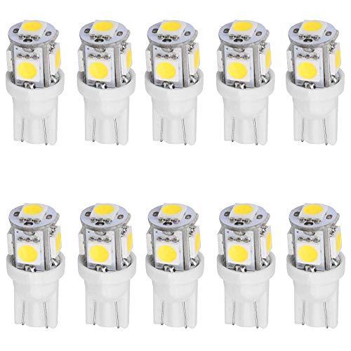 10-Stück Weiß T10 194 168 501 Glühlampe 12V 0.8W Hohe Helligkeit Lampe Litch