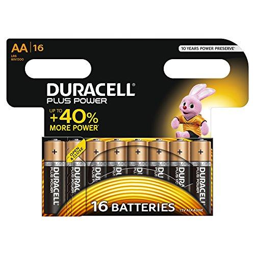 Duracell 5000394017924 Plus Power-AA(MN1500/LR06) Alkaline-Batterie, CP16 Orange/Schwarz