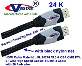 VasterCable, (2 Pack, 50 ft / 15.24 M) High-Speed HDMI Cable, with Ethernet, Ultra Series - Supports Ethernet, 3D, and Audio Return