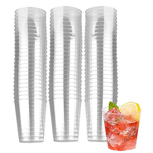 vasos de plástico desechables,Vasos Tazas Transparentes,Vasos de Cerveza,Vajilla Desechable,para picnic, fiestas, barbacoa, eventos y viajes (30ml)