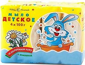 Nevskaya Cosmetica Russian Kids Soap with Chamomile 4 by100gr Десткое Мыло с Ромашкой (4 кусочка по 100 гр. в одном блоке)