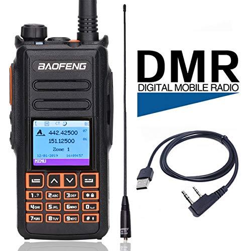 BAOFENG DM-1702B DMR GPS Record Tier 1&2 Dual Time Slot Dual Band Digital/Analog Two Way Radio Compatible with Motorola +771Antenna