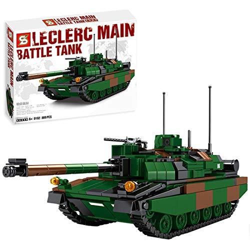 HYZM Char Militaire Jeu de Construction, 889 Pièces France Leclerc Char de Combat Principal Modèle WW2 Militaire Tank Blocs de Construction Compatible avec Lego