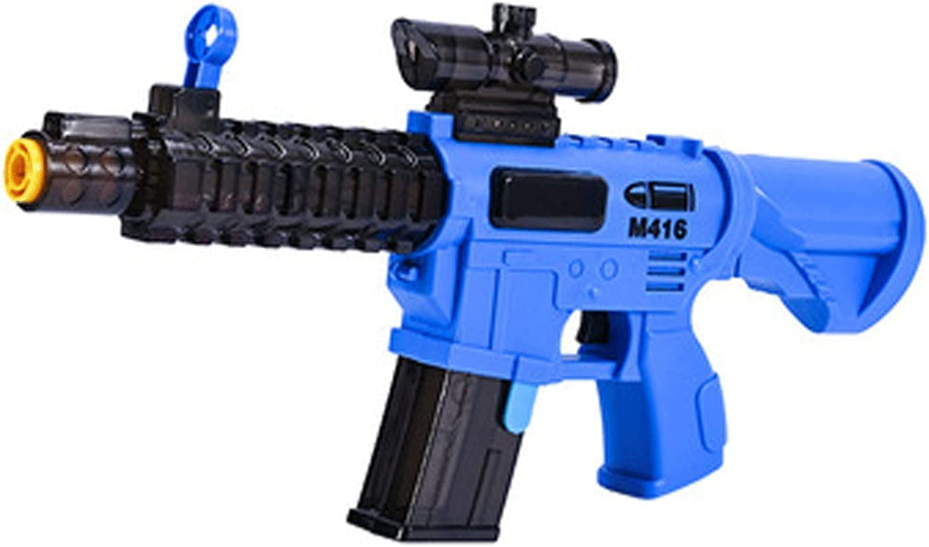 HXWJ Bubble Gun for Kids, LED Light Up Bubble Machine for Kids B