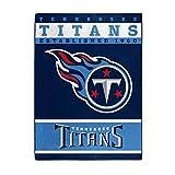 NORTHWEST NFL Tennessee Titans Raschel Throw Blanket, 60' x 80', 12th Man