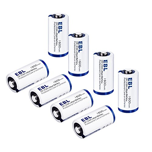 EBL CR123A 3V Lithium Battery, 8 Pack 1600mAh Non-Rechargeable Camera Batteries 10-Year Shelf Life with Battery Storage Box for Flashlights Digital Cameras Microphones [CAN NOT BE RECHARGED]
