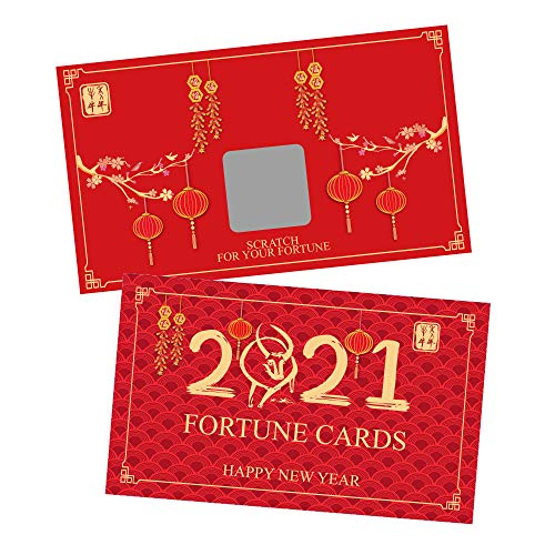 Scratch-off fortune cards