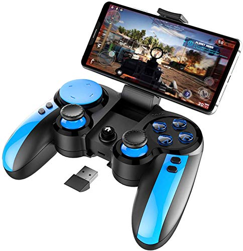 ipega-PG-9090 Wireless4.0 +2.4G Gamepad Joystick Game Controller for iPhone8/11/XR/XS Galaxy S10/S10+S20/S20+ Android/iOS Mobile Smartphone Tablet PC (Android 6.0 or, iOS11.0 Higher System)