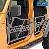 EAG Safari Tubular Door with Side View Mirror Fit for 2018-2021 Wrangler JL 4 Door Only