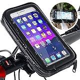 Max excell Porta Cellulare da Bici, Supporto Smartphone per Moto e Scooter Impermeabile con Touch Screen e Rotazione a 360, per iPhone e Samsung da 4,8 a 6,3 Pollici (Extra Large)