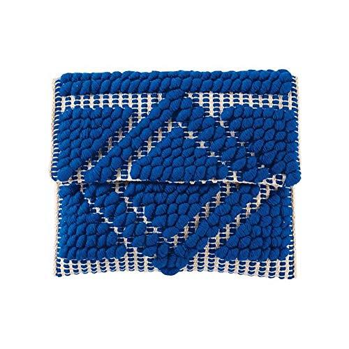 Mud Pie Women Handloom Clutch (Blue)