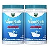 Turn your bath into a soothing experience. Vicks Vapors infuse with warm water to soothe with aromatherapy vapors Breathe easy. Soothing, non-medicated vapors are activated by warm water to give you the ultimate, relaxing bath experience.Keep out of ...