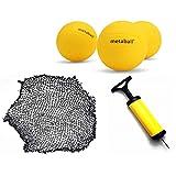 Tickas Conjunto de mini-vôlei de praia Spike Balls Jogo de esportes em equipe ao ar livre para gramados equipamentos de ginástica e rede com 3 bolas,Conjunto de mini-vôlei de praia Spike Balls