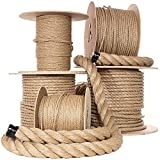 UnManila Polypropylene Rope Cordage - Tug of War Rope - All Purpose ProManila Cord for Decor, Crafts, Sporting, and Landscaping (1 Inch x 50 Feet)