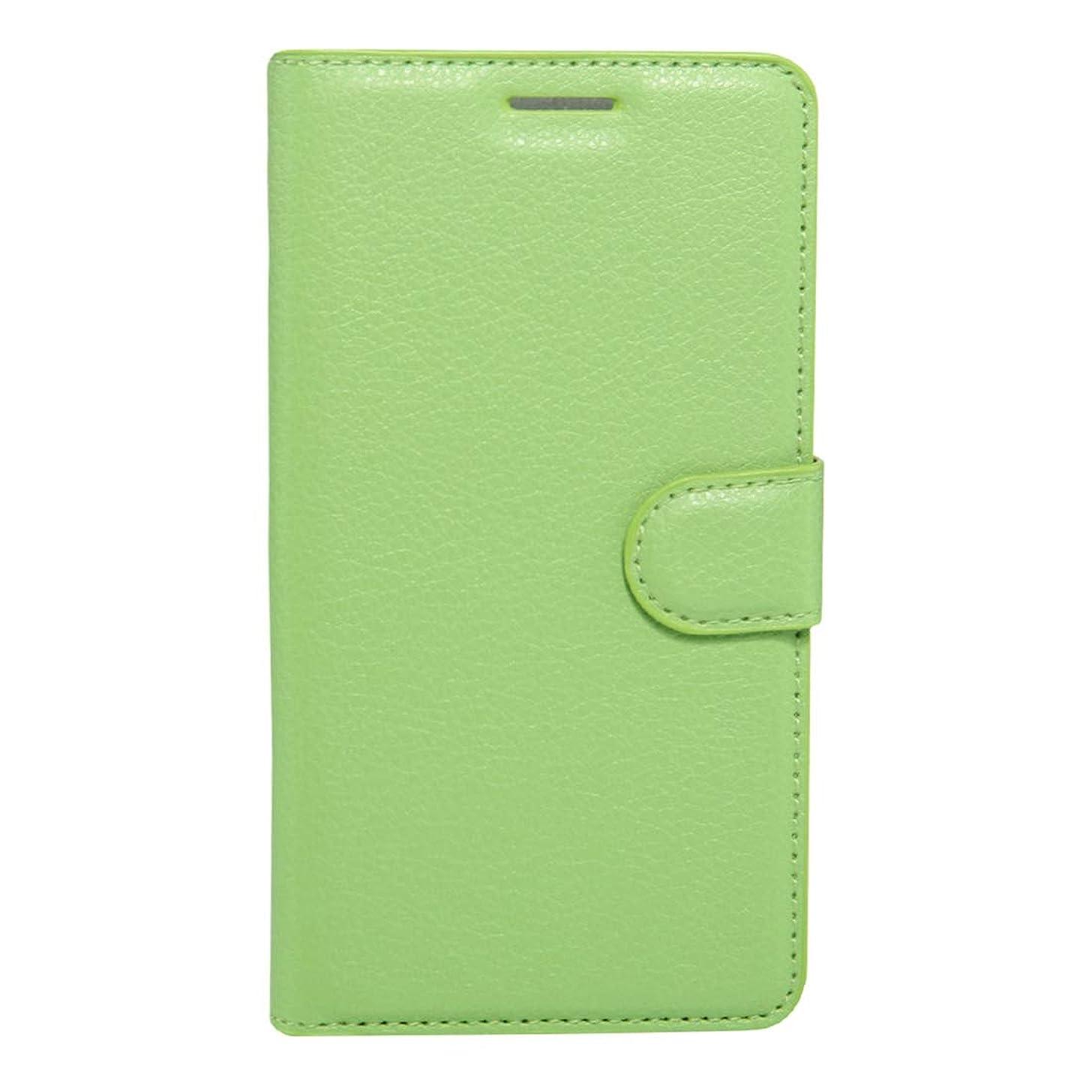 認める疑いしなやかKMLP Huawei Honor 6x(2016)Litchiテクスチャホルダー&カードスロット&ウォレット(ブラック)付き水平フリップPUレザーケース (Color : Green)