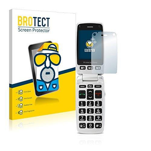 BROTECT 2X Entspiegelungs-Schutzfolie kompatibel mit Doro Primo 413 Bildschirmschutz-Folie Matt, Anti-Reflex, Anti-Fingerprint