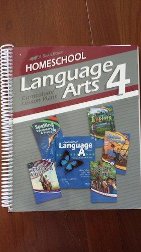 A Beka Language Arts 4 Curriculum/Lesson Plans Homeschool